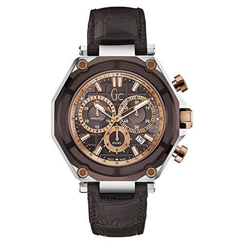 Guess Gc Collection Men's Leather Swiss Watch X10003G4