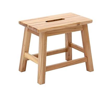 Prendi uno sgabello sgabello in legno massello con sgabello