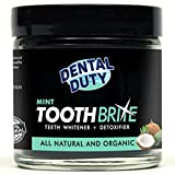 All Natural Charcoal Teeth Whitening Gum Powder -Mint Flavor- Made with Organic Coconut Activated Charcoal and Bentonite Clay Formula for Stronger Healthy White Teeth.No need for Strips, Kits or Gel.