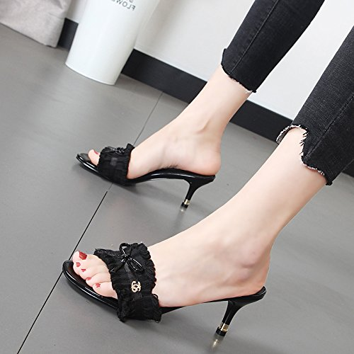 rosée en qui Cool Chaussons Qiqi une femmes tous fashion femme treillis porter Black la chaussons Xue comme toison ont deux wRvqAB