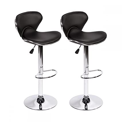 Marvelous Bar Stools Swivel With Back Pu Leather Height Adjustable Kitchen Counter Dining Chairs Set Of 2 Black Butterfly Bar Stool Gamerscity Chair Design For Home Gamerscityorg