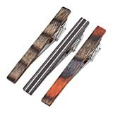 Zysta Natural Wood Men Fashion GQ Tie Clips Pinch Necktie Bar Clasps Gentleman Shirts Dress