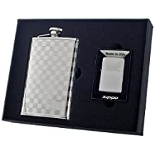 Visol Mate Flask and Zippo Lighter Gift Set, 8-Ounce by Visol