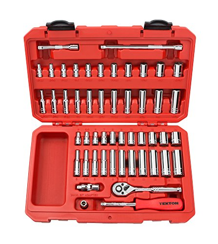 TEKTON 1/4-Inch Drive Socket Set, Inch/Metric, 6-Point, 5/32-Inch - 9/16-Inch, 5 mm - 14 mm, 51-Piece | 13001