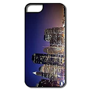 IPhone 5 5S Cases, New York Marina Cases For IPhone 5 - White/black Hard Plastic