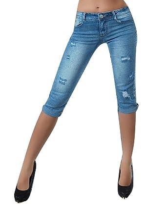 DianShaoA Mujer Pantalones Cortos Rotos Agujero Vaquero Push ...