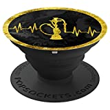 Relaxing Hookah Shisha (Sheesha) - Heart Beats Design 1 - PopSockets Grip and Stand for Phones and Tablets