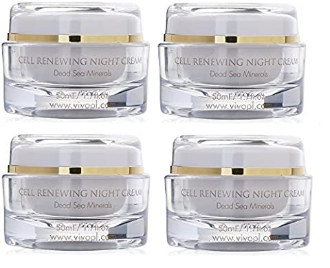 Vivo Per Lei Cell Renewal Night Face Cream, Look Younger, Not Oily or Sticky, 1.7 Fl. Oz., Pack of 4