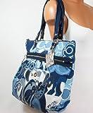 Coach Limited Edition Applique Glam Shopper Bag Purse Tote 15375 Denim, Bags Central