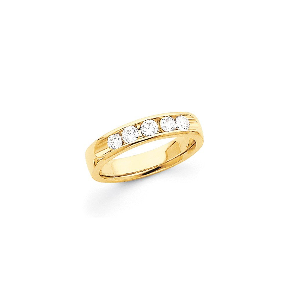 0.465 Carat (ctw) 14k Yellow Gold Ladies Bridal Comfort Fit Diamond Channel Band 1/2CT by JewelrySuperMart Collection