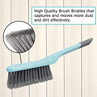 Guay Clean Brush and Dustpan Set - Heavy Duty Cleaning Tool Kit - Collects Dust Dirt Debris - Small and Lightweight for Home Kitchen Office Floor - Blue