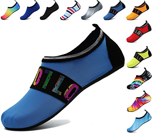 adituo Summer Water Skin Shoes Aqua Socks for Mens and Womens US 5.5-6.5 Women, 5-5.5 Men Loveblue 36-37