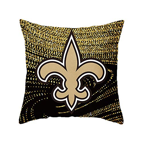 - Gloral HIF New Orleans Saints Throw Pillow Covers Set Pack of 2 Cotton Linen Zippered Pillowcase for Car 18