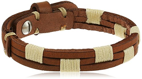 Fossil Vintage Casual Stitched Leather Bracelet