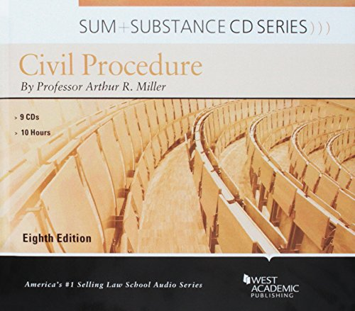 Sum and Substance Audio on Civil Procedure by West Academic Publishing