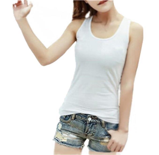 AILIENT Sexy Chaleco Tops Mujer Sencillas Camiseta Sin Mangas Costura Encaje T-Shirts Elegante Blusas