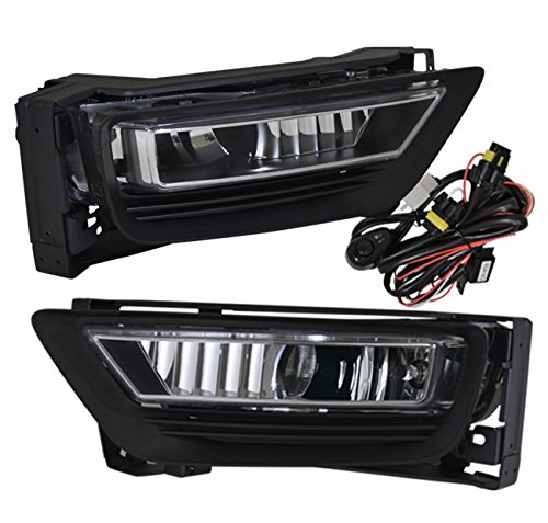 Driving Lights Complete Kit (Honda Accord 4 Door Sedan Jdm Vip Clear Fog Light Lamp Lens Assembly Complete Kit Driving Front Bumper Conversion Harness Switch Lh Rh Pair Set)