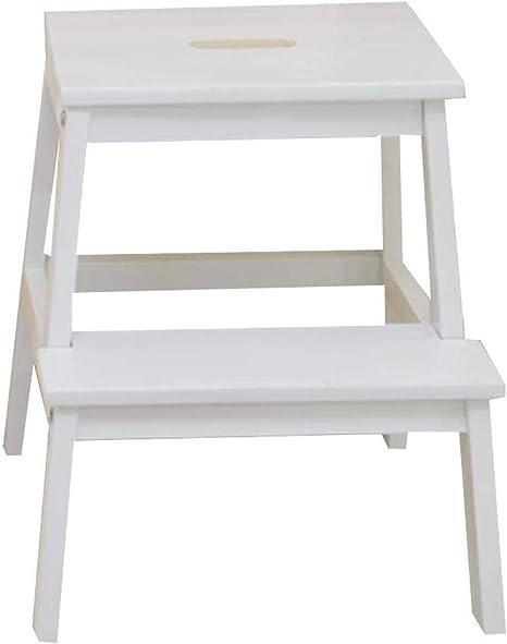 Taburete Escalera Paso Escalera del Taburete del Taburete de Madera sólida del hogar Asamblea multifunción Simple práctica de Modas, 2 Pasos de Escalera (Color : White): Amazon.es: Hogar