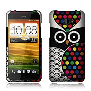 HTC Droid DNA 6435LVW Black Owl Rubberized Cover