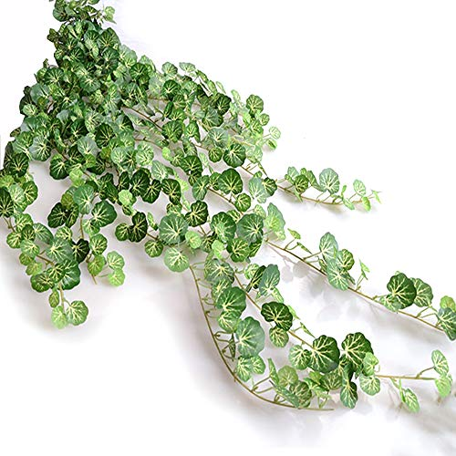 Begonia Leaves - EDOBLUE 36 Ft 5 Pcs Artificial Fake Ivy Vines Garland Hanging Begonia Leaves For Wedding Party Home Décor