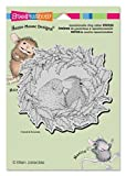 Stampendous Rubber House Mouse Cling Stamp 5.5-inch x 4.5-inch, Wreath Kiss by Stampendous