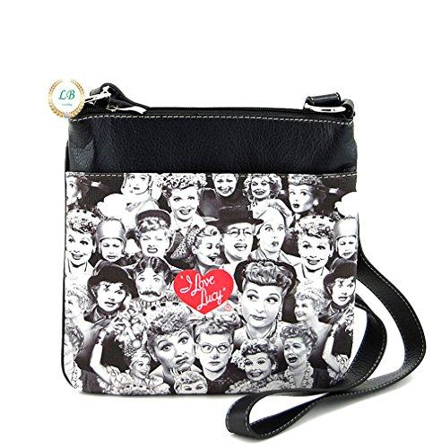 - I Love Lucy Collage Messenger Bag, Plus Key Chain (Black)