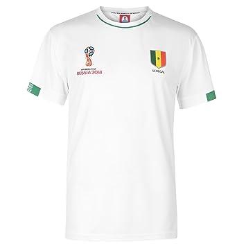 2406e83375c FIFA World Cup 2018 Senegal T-Shirt Mens White Football Soccer Tee Shirt  Medium
