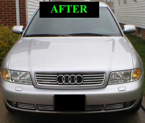 1997 2005 audi a8 s8 lower chrome grill grille kit 1998. Black Bedroom Furniture Sets. Home Design Ideas