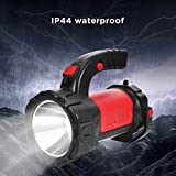 Yunn 10W T6 Rechargeable 7 Kinds of Lighting Mode Searchlights with Side Lights with Battery Display