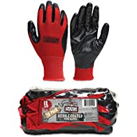 Grease Monkey Large Nitrile Coated Work Gloves 10 Pack by Grease Monkey