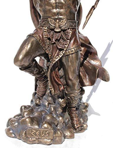Zeus Dios Griego Holding Thunderbolt Estatua con águila ...