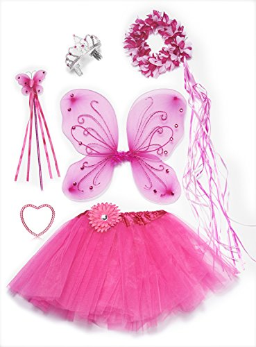 Pink Fairy Princess Costume Set--6 Piece (Girls Fairy Princess Costume)