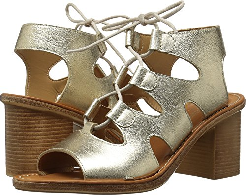 Bella Vita Women's Bre-Italy Ghillie Tie Sandal,Gold Leather,US 8 WW