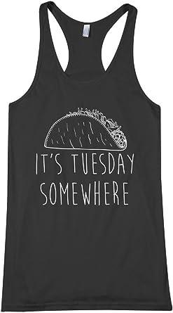 Threadrock Men/'s It/'s Tuesday Somewhere Long Sleeve T-shirt Taco Tuesday