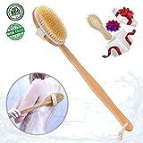#8: Dry Brushing Body Brush Skin Brush Natural Bristles Back Scrubber Exfoliating Massager Shower Dry/Wet Bath Brush For Men/Women Long Relax Wood Handle -Cellulite,Circulation,Skin Beauty Healthy