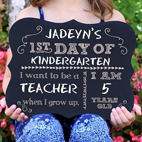 First Day Of School Chalkboard Sign by Custom Gifts