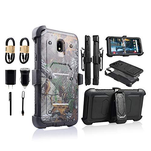 - Samsung Galaxy J7 2018 / J7 Refine / J7V 2nd Gen / J7 Star / J7 Top Case, with Screen Protector Clip Holster Kickstand Grip Sides Shock Bumper Armor [Value Bundle] (Camo)