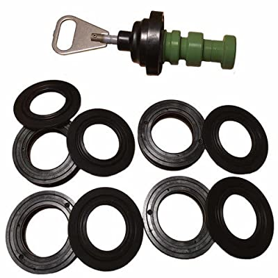 AFWFilters 5600RBKF Fleck 5600 Filter Valve Rebuild Kit - Includes Piston (60102-10) and Seals & Spacers (60125) black, green from Fleck