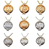 Julie Wang Bulk Sale 9pcs Aromatherapy Enssential Oil Diffuser Necklace Locket Pendants Gift