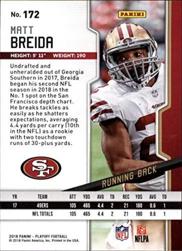 f3f805558 Amazon.com: 2018 Playoff Football #172 Matt Breida San Francisco 49ers  Official NFL Trading Card made by Panini: Collectibles & Fine Art