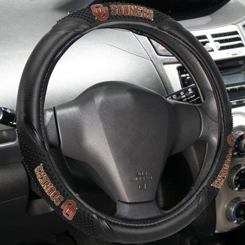 - Fremont Die NCAA Oklahoma Sooners Massage Steering Wheel Cover, Black, One Size