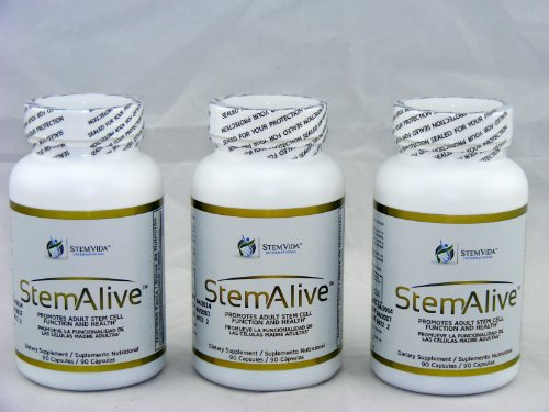 Stemstem Alive Supplements LOT of 3 New & Factory Sealedalive 90 Capsules by Stemstem Alive Supplements