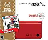 Nintendo DSi XL Red Bundle with Mario Kart (Renewed)