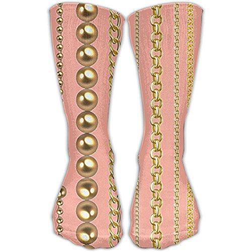 Fun Gold Necklace Hip-hop Girls Dress Socks Womens Crew Socks by SEyuKBP