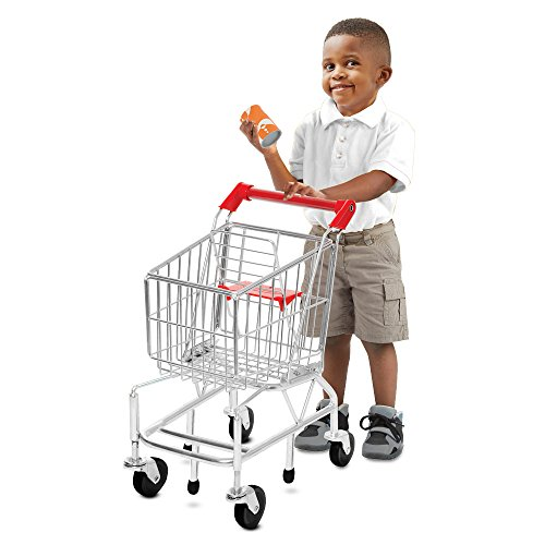 51Qurx4yVoL - Melissa & Doug Toy Shopping Cart With Sturdy Metal Frame