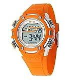 Deportes Y Aire Libre Best Deals - deportes al aire libre 30m impermeable calendario contador de tiempo luz LED luminosa alarma reloj electrónica reloj de pulsera para niñas mujeres de color naranja-