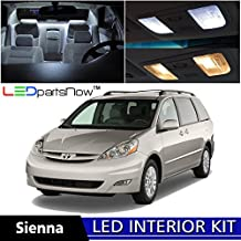 LEDpartsNOW Toyota Sienna 2004-2010 Xenon White Premium LED Interior Lights Package Kit (13 Pieces) + TOOL