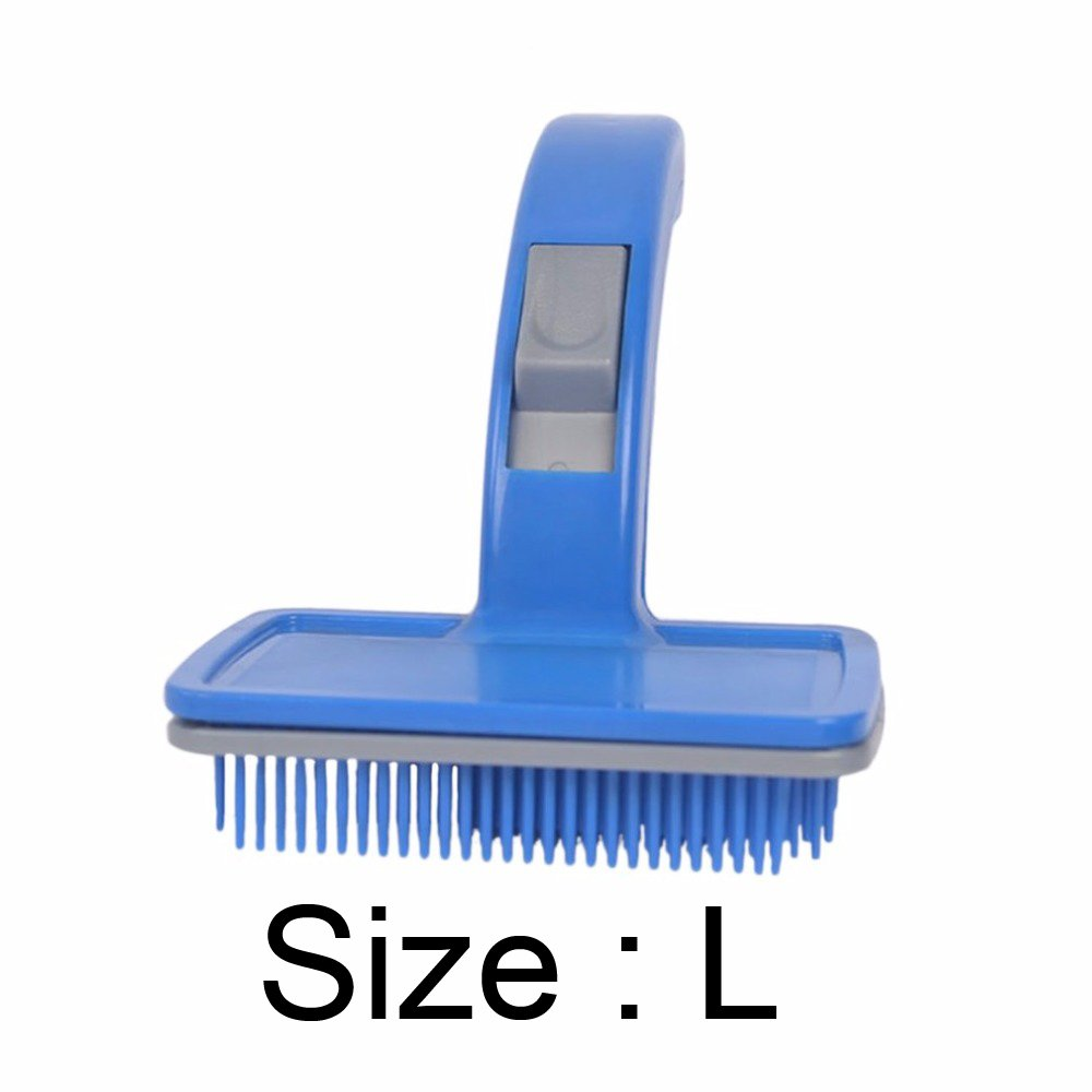 Pet Automatic Hair Brush Comb Small Dog Pet Comb Pet Brush Pet Beauty Cleaning Products Plastic And Nylon Brush Size L