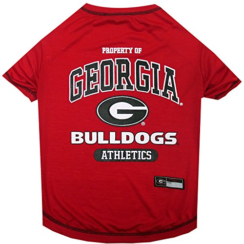 Team Pet T-shirt (NCAA GEORGIA BULLDOGS Dog T-Shirt, Large)