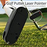 HIKENTURE Black Golf Putter Laser Pointer Putting Training Aim Line Corrector Improve Aid Tool Practice Golf Accessories